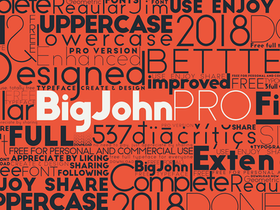 Big John PRO - FREE Font typography typeface motion lucin lettering ion gratis graphic free font
