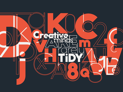 Creative minds typography typeface randomize motion lucin n lettering io graphic font animation animated