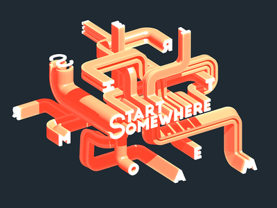 Start somewhere typography typeface randomize lettering motion ion lucin graphic font animation animated