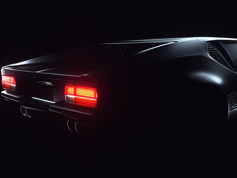 De Tomaso - Pantera render octane lighting dark design direction creative cinema4d cgi cars car c4d project behance automitive artdirection art 3dart 3d