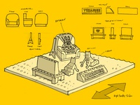Lego Batman Sand Sculpture concept