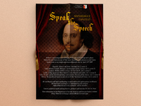 Shakespeare monologue contest poster