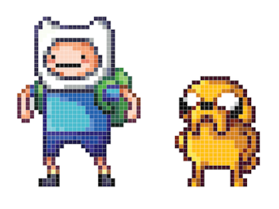 Adventure Time Pixel Art Recreation  pixel illustration adventure time