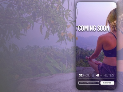 Coming Soon Yoga Website Mobile View UI UX Design