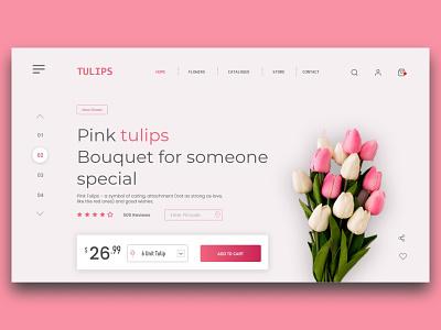 Website UI UX Design For Tulips Shopping website graphics branding illustrator mockup website webdesign uiux mockups mobile app design logo illustrations illustration digital design illustration ui mobile