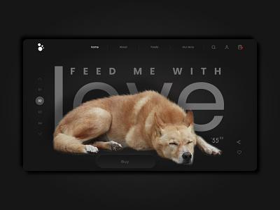Pet Food Website  App design UI UX mobile app design design app mockup ui ux branding website webdesign mockups uiux