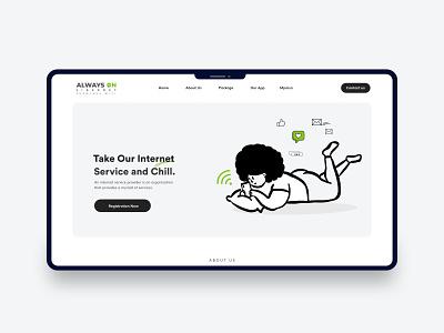 ISP Website Landing page ui design branding logo illustration website mockup uiux webdesign mockups