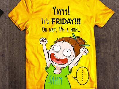 SAHM mom tshirt design mom colorful characterdesign logotype tshirt design tshirt cartoon character illustration