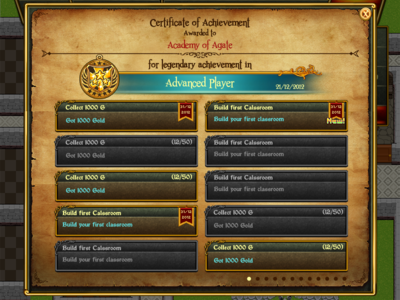 Game Menu UI Achievement