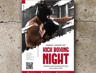 Boxing Poster minimal logos design logodesign icon brochure design brochure brochure template animation logo