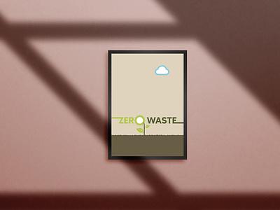 Zero Waste Poster zero waste poster design poster قطره طراحی hosman design طراحی گرافیک graphic designer graphic design designdrop design