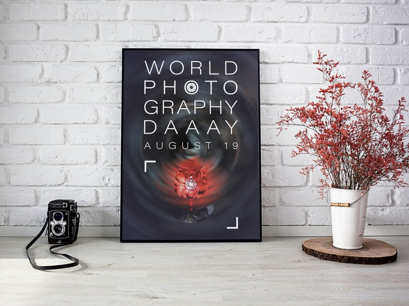 World Photography Day photographer photography design drop طراحی پوستر قطره طراحی طراحی گرافیک hosman design hosman hosman7 hosein mansouri graphic designer poster art graphic design design designdrop poster design poster