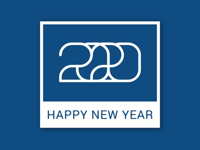 Happy New Year 2020 classic blue pantone 2020 new year happy new year گرافیک دیزاین گرافیک design drop قطره طراحی طراحی گرافیک hosman design hosman hosein mansouri graphic designer graphic design designdrop design