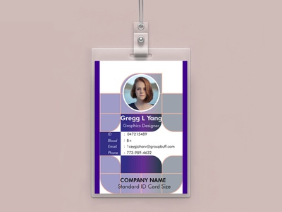 Beautiful, visually appealing identity card design.