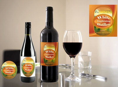 Red Wine label Design