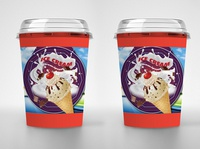 Free Ice Cream Disposable Packaging Mockup