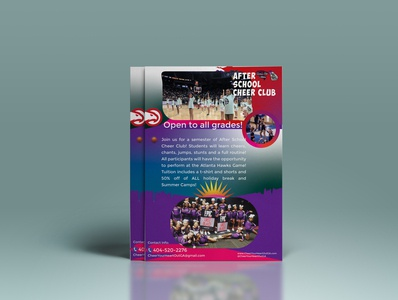 I will make Amazing Flyer Design School Cheer Club A4
