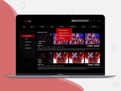 Live Streaming Web App Example laravel mobile app development web app development movie online free videos content ui uidesign webdesign website streaming app webapp design webapp