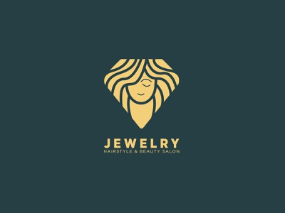 Jewelry hairstyle & beauty salon beauty salon beauty logo beauty women icon illustration logo design hairstyle