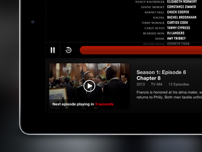 Netflix iPad Postplay