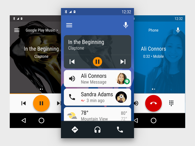 Android Auto on Phone google car ui ux mobile android auto auto android