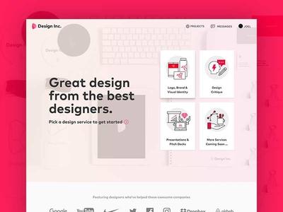 Design Inc Services Header