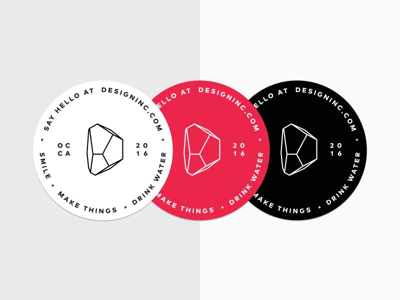 Design Inc Stickers design inc seal sticker stone