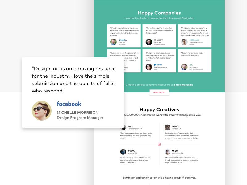 Testimonial & Success Story Cards design inc material design quote avatar testimonials ui card card ui