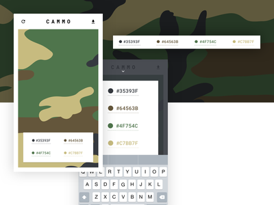 CAMMO SVG App & Auto Layout Tutorial mobile ui rwd responsive camouflage svg