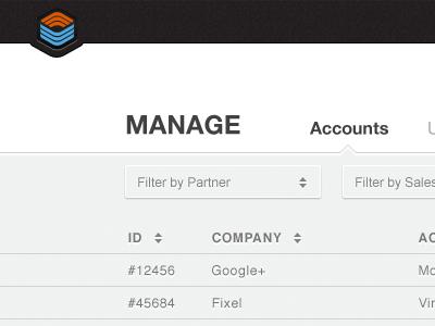 Admin Dashboard admin dashboard ui filter table list management