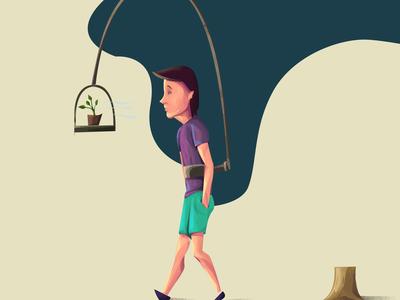 Illustration save tree