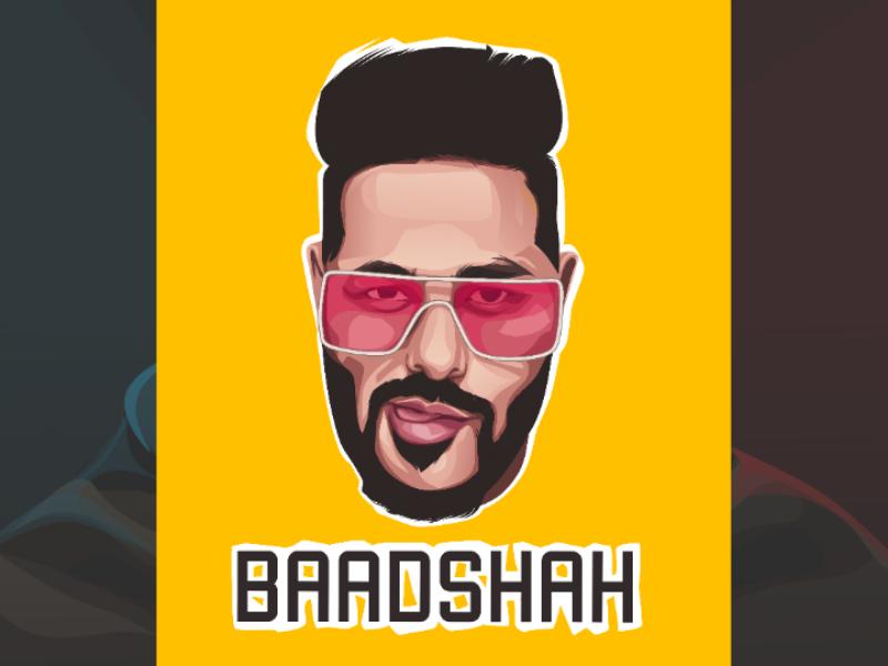 Badshah vector logo mascot mockup design logo