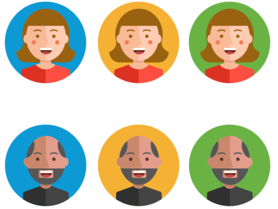 Banking Personas pictogram people icons icons avatar icons avatars illustrations personas