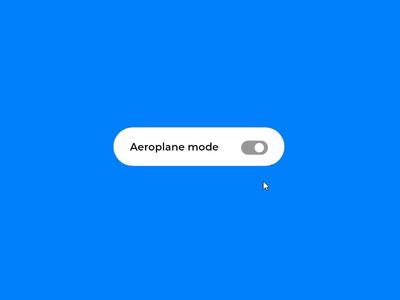 Aeroplane mode microinteraction