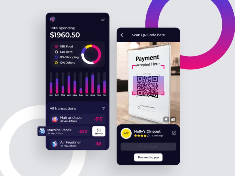 Finance app concept uiuxdesigner uidesign uidesigner uxdesigns uidesigns userinterface app ui app design appconcept financeapp uxdesigning uiux uxui userexperiencedesign adobexd userexperience