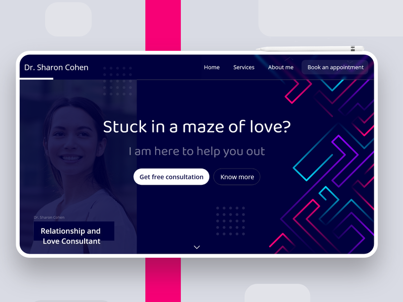 Love consultant Landing page Concept loveconsultant love professionalwebsite consultantpage consultant professional websitedesign webpage concept websiteconcept landingpage homepage