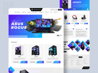 Product Category Page for Gaming PC's responsivewebsite creativewebsite responsive modernwebsite moderndesign laningpage homepage websitedesign websitedesigner gamingwebsite gaming productpage