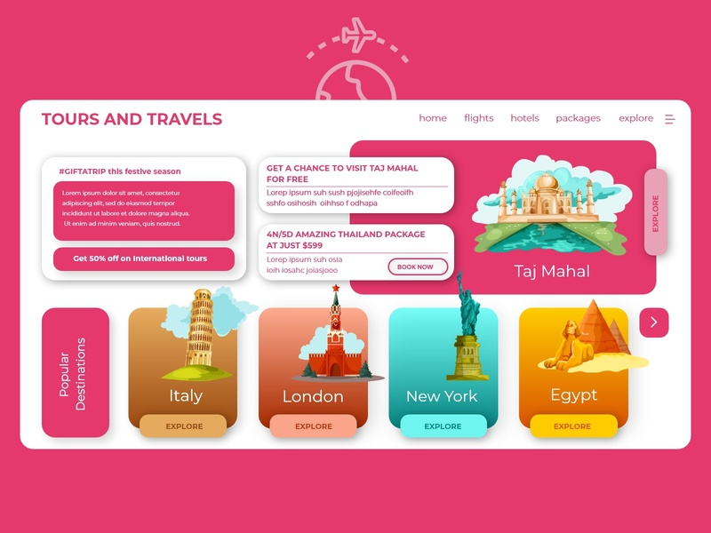 Tours and Travels Landing Page