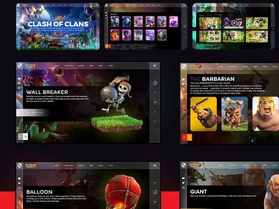 Web Ui design for Clash of Clans. web designer ui designer user interface website design app design modern ui design web design landing page web ui ux design ui design uiux ui