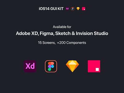 iOS14 GUI KIT xd gui adobexd invision adobe xd figma sketch design app kit prototype template wireframe mockups iphone