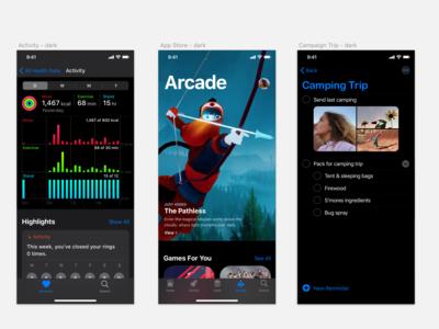 iOS13 GUI KIT In Progress