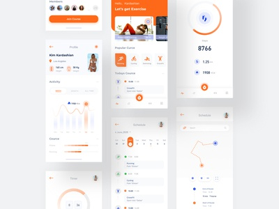 Exercise Fitness Interface design app icon ux ui