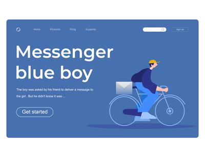 Messenger blue boy