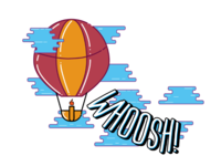 Daily Logo Challenge, Day 2 - Hot Air Balloon