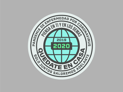COVID-19 Pandemic disease global globe flat flatdesign badgehunting badgedesign badge covid19 pandemic