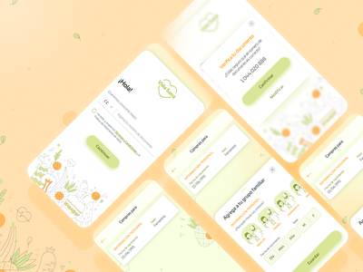 Vida Sana (healthy app concept) interface app design healthyfood food app app elegant uxdesign uiux ux food healthy inspiration uidesign ui