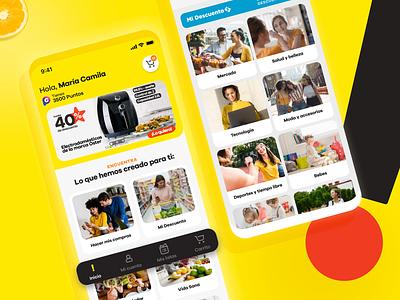App Éxito Redesign shopping cart shopping ecommerce mobile uiux app design app identity ui