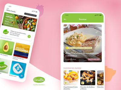 App Carulla Redesign brand identity uxui ecommerce mobile app app clean ui uxdesign mobile ui  ux dailyui shop food app green supermarket fresco fresh app design