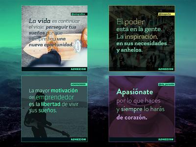 Adhezion - Social Media Graphics