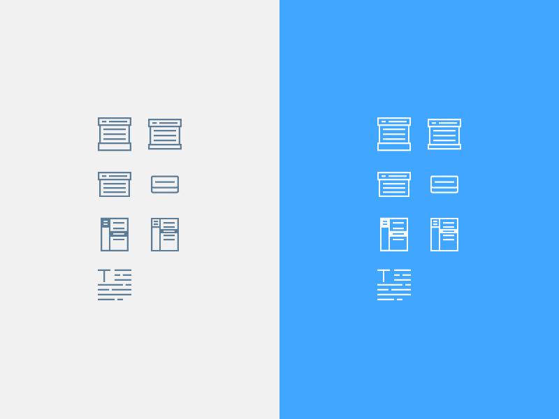 Mini Icons interface mini ui menu wip accordion text icon